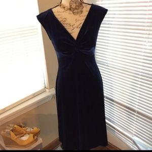 London times velvet royal blue evening dress